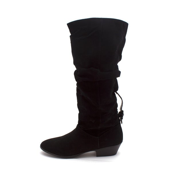 UNIONBAY Womens Fresno Closed Toe Knee High Fashion Boots - 12