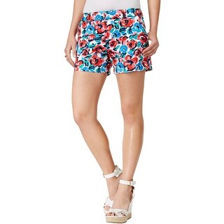 Tommy Hilfiger Womens Casual Shorts Twill Floral Print