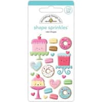 Doodlebug CAS5457 Cream & Sugar Sprinkles Enamel Shapes Cake