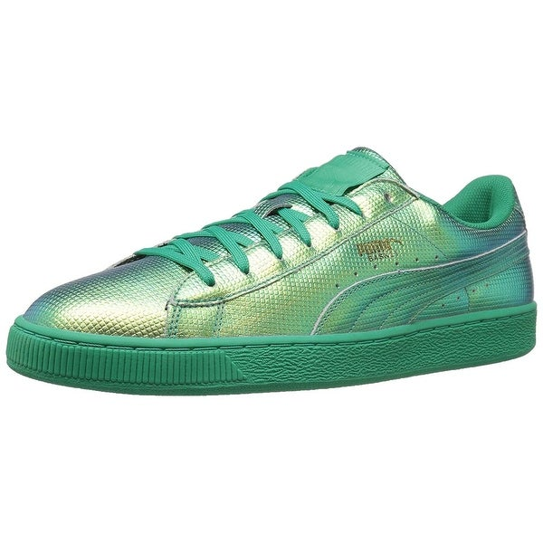 PUMA Men's Basket Classic Holographic Fashion Sneaker - 5