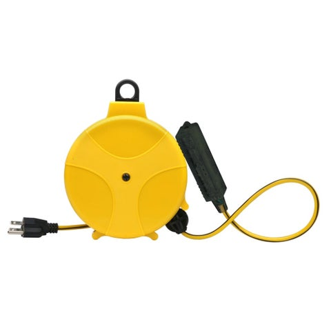 Designers Edge E315 20' Retractable Extension Cord Reel - YELLOW - N/A