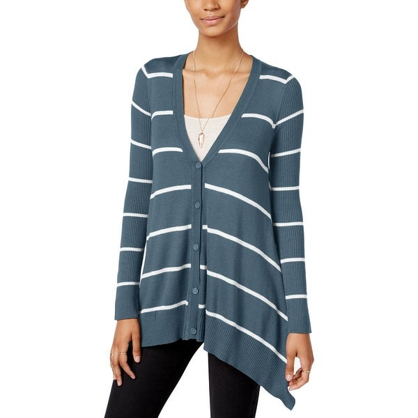 Shop Hippie Rose Womens Juniors Cardigan Sweater Knit Ribbed Free