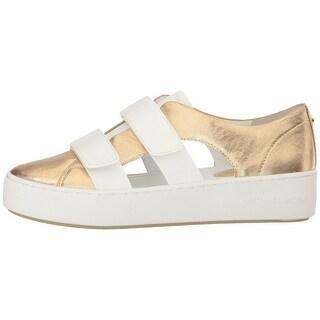 MICHAEL Michael Kors Womens Beckett Sneaker Leather Low Top Fashion Sn...