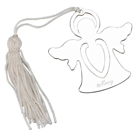 "2.5"" Standing Angel Design Bookmark with Silver Tassel"