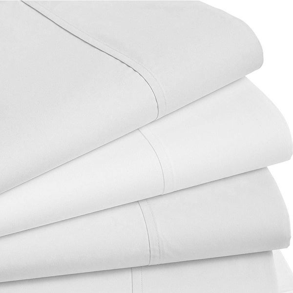 60381d787c6a Shop Hotel Collection 470 Thread Count Queen Flat Sheet Nip Light Grey -  White - Free Shipping On Orders Over $45 - Overstock - 27759330