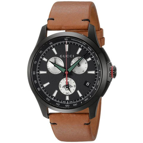 Gucci G-Timeless Leather Chronograph Mens Watch - One Size