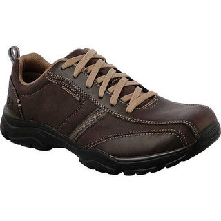 Skechers Men's Relaxed Fit Rovato Larion Bicycle Toe Shoe Brown