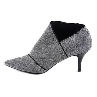 Adrianna Papell Womens Heather Metallic Pointed Toe Booties - 8.5 medium (b,m)