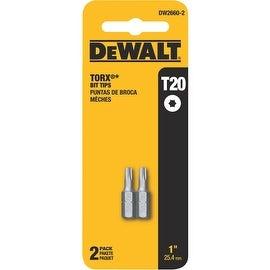 """DeWalt 2Pk 1"""" T20 Torx Bit"""