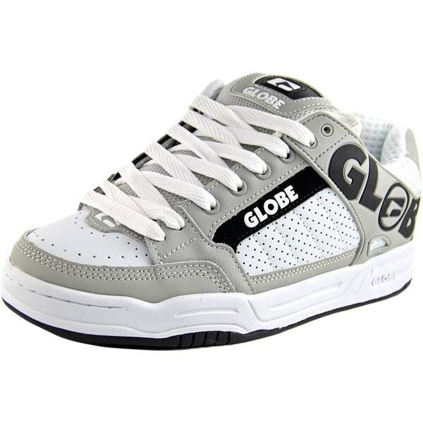 Globe Tilt Men Round Toe Leather White Skate Shoe