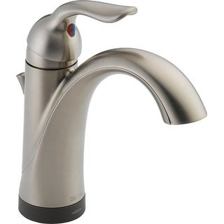 Delta 538T-DST  Lahara Single Hole Bathroom Faucet with On/Off Touch and Proximity Sensor Activation, Optional Base Plate, and