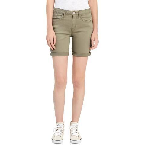 Calvin Klein Jeans Womens Bermuda Shorts Twill Mid-Rise
