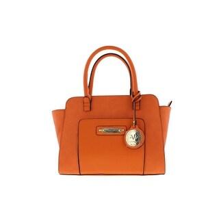V1969 19.69 ABBIGLIAMENTO Womens Concordia Faux Leather Satchel Handbag - Nude - Large