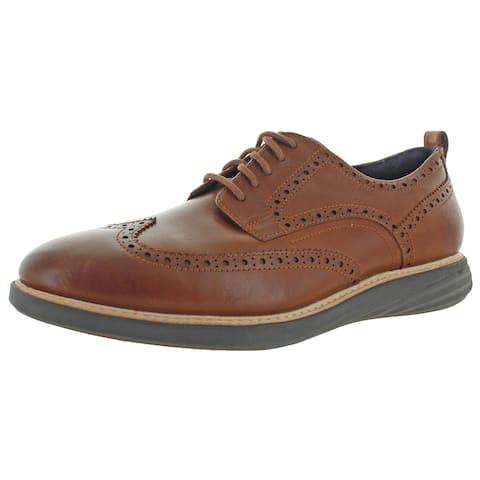 Cole Haan Mens Grand Evolution Oxfords Leather Brogue - British Tan/Java