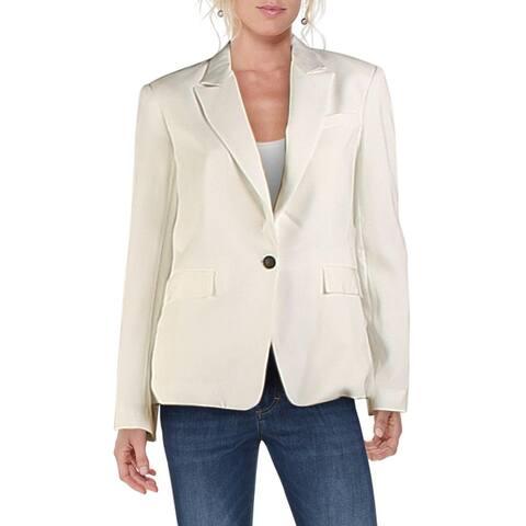 Rag & Bone Womens Rylie Blazer One-Button Business - White
