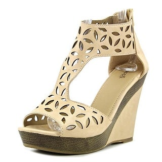 Bucco Capensis Lachance   Open Toe Leather  Wedge Sandal