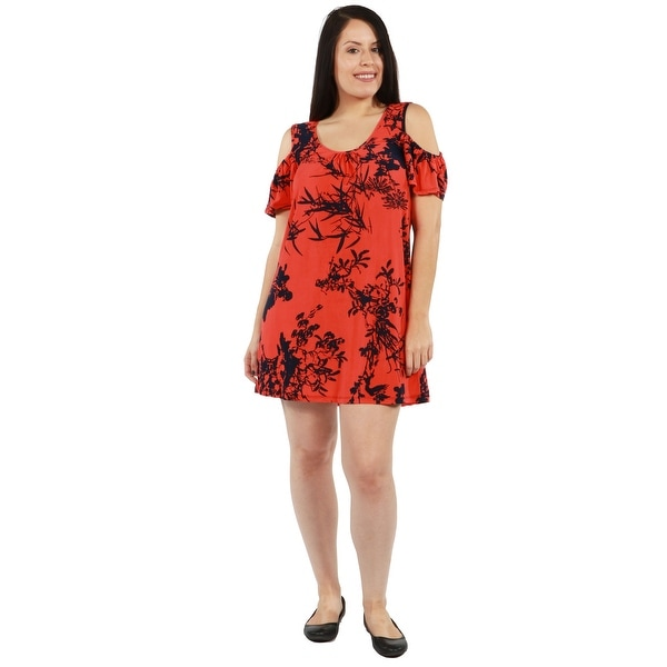 3bce278b4a597 Shop 24Seven Comfort Apparel Wren Plus Size Dress - On Sale - Free ...
