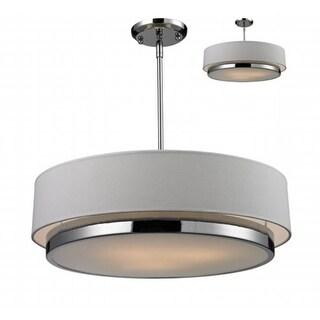 Z-Lite 186-22- 3 Light Chandelier Chrome Steel Fabric