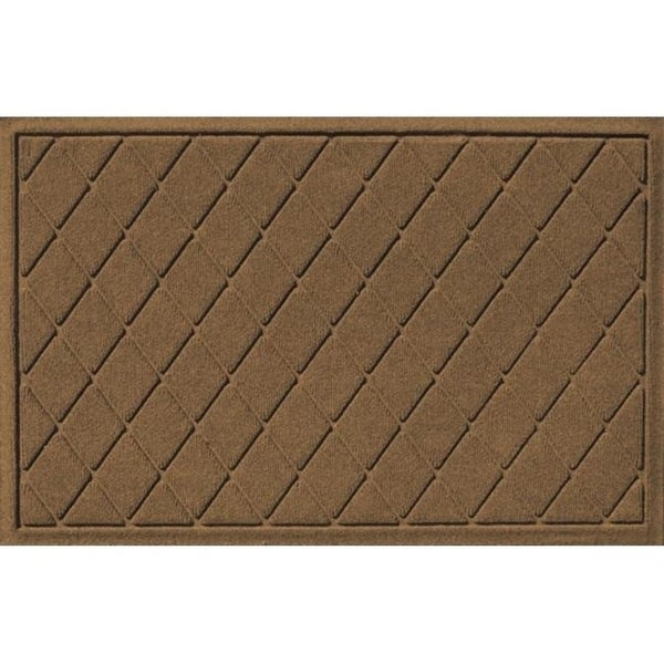 20377520023 Water Guard Argyle Mat in Dark Brown - 2 ft. x 3 ft.