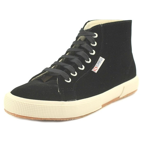 Superga 2095 Velvtw Women Round Toe Canvas Black Sneakers