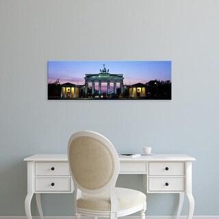Easy Art Prints Panoramic Images's 'Brandenburg Gate, Berlin, Germany' Premium Canvas Art