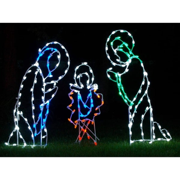 Christmas at Winterland WL-GM101-LED LED Light Three Piece Nativity Scene - MultiColor - N/A