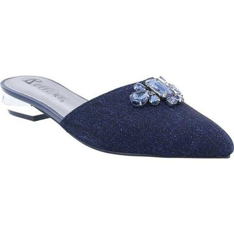 Bellini Women's Fierce Flat Slingback Navy Velvet