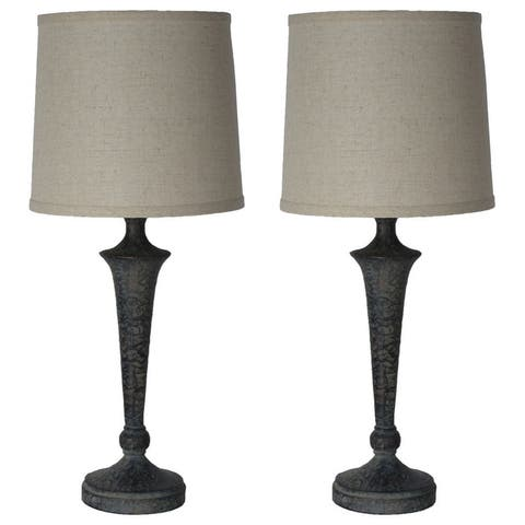 "Set of 2 Jacob Table Lamps, 20-3/4"" Tall"