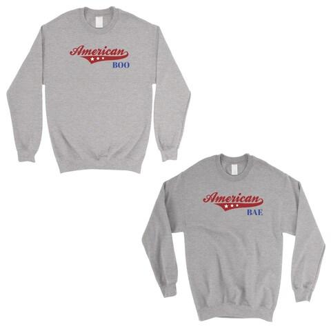 American Boo Bae Grey Matching Sweatshirt Pullover For Girlfriend