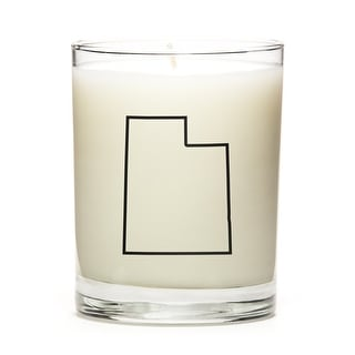 Custom Candles with the Map Outline Utah, Lavender