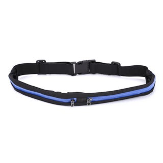 Dual Pocket Running Belt Travel Pack for Jogging, Cycling and Outdoors (Option: Blue - 2 - Expandable)