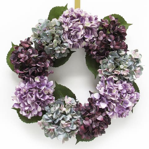 Hydrangea Flower Wreath 20in
