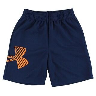 Under Armour Boys Logo Shorts Navy - Navy/Orange - 5