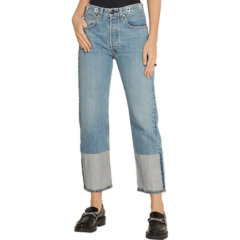 Rag & Bone Vintage Cropped Cotton Jeans
