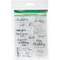 """Penny Black Clear Stamps 5""""X7""""-Words Of Kindness"""
