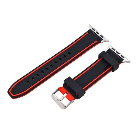 AGPtek 38mm Replacement Silicone Sports Bracelet Strap Buckle Clasp for Apple Watch Series 2 / 1