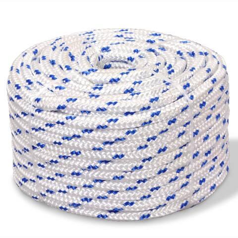 "vidaXL Marine Rope Polypropylene 0.55"" 1968.5"" White"