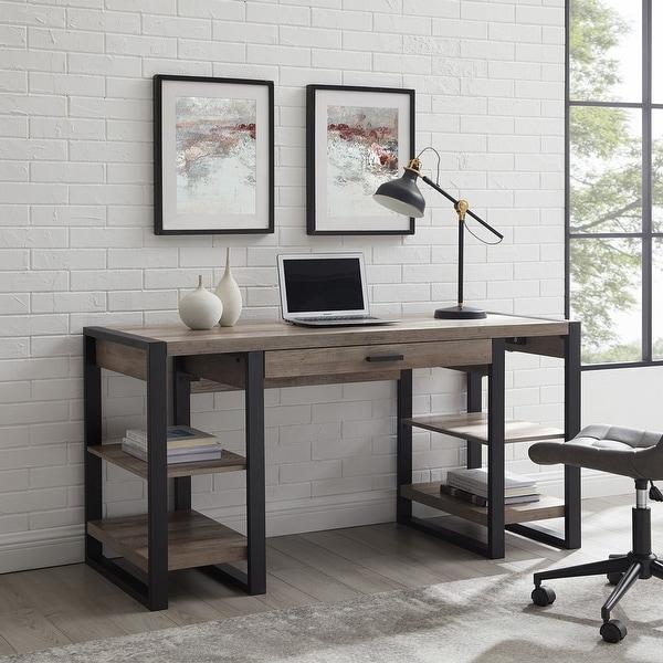 60-inch Driftwood Urban Blend Computer Storage Desk. Opens flyout.