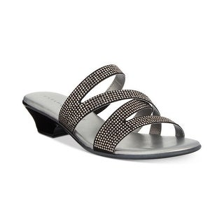 Link to Karen Scott Womens Embir Fabric Open Toe Casual Slide Sandals Similar Items in Women's Shoes