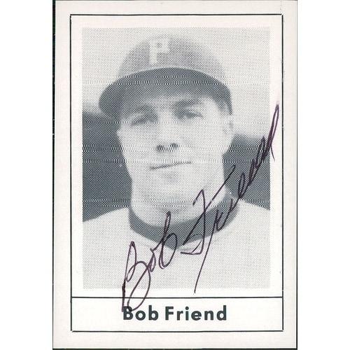 Signed Friend Bob Pittsburgh Pirates 1987 Grand Slam Baseball Card Autographed