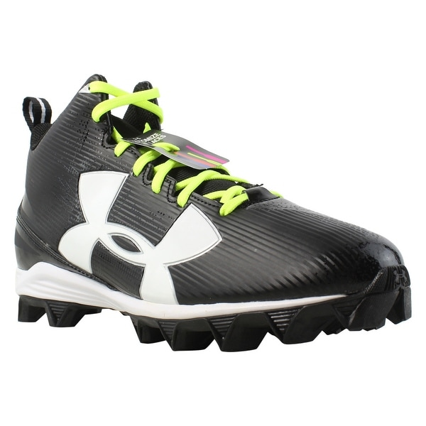 a901e7acdb76 Under Armour Mens Ua Crusher Rm Black/white Football Cleats Size 10.5