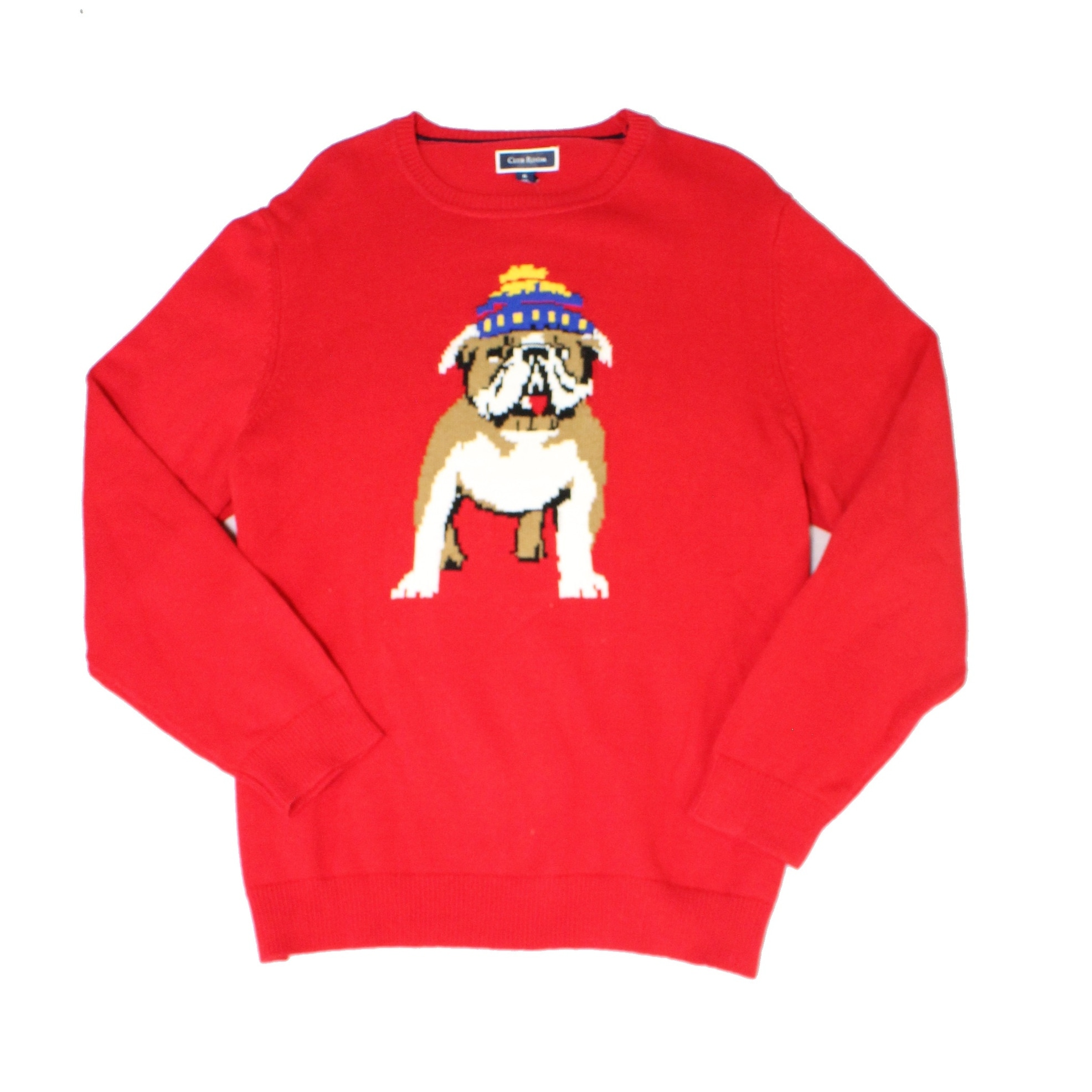 Club Room Mens Marled Crew Beck Pullover Sweater Red XL