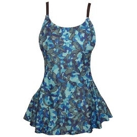 Funfash Plus Size Swimsuit Blue Black Bathing Suit Tankini Swimwear
