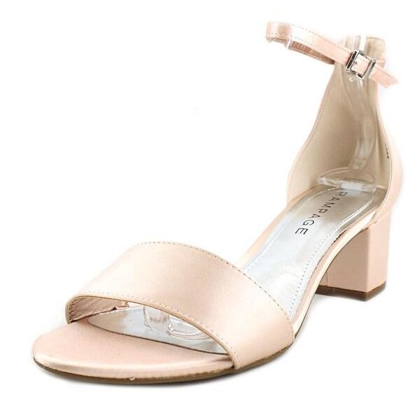 Rampage Glyterzz Women Open-Toe Canvas Pink Heels