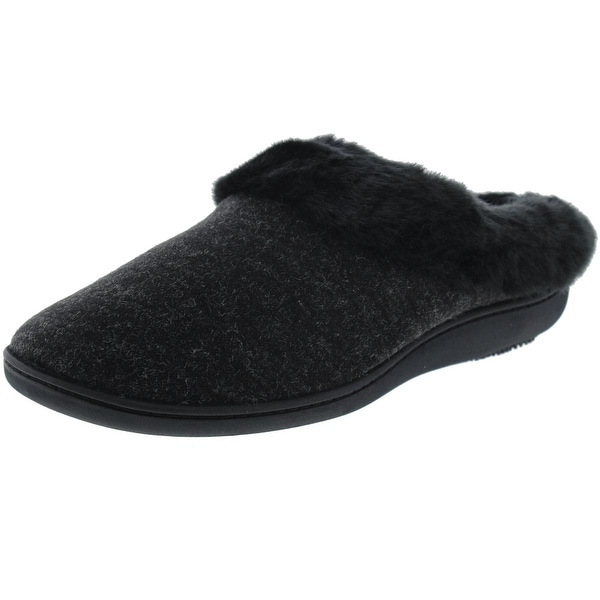 Isotoner Womens Holiday Clog Slippers Knit Memory Foam