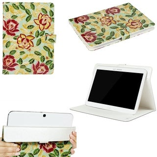 "JAVOedge Peony leaves Universal 9""-10"" Tablet Case for iPad Air, Samsung Note, Tab 3, Nook HD+ 9, Nexus 10 (Green)"
