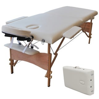 """Costway 84""""l Portable Massage Table Facial SPA Bed Tattoo W/free Carry Case (White)