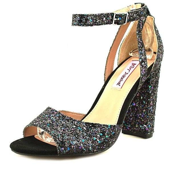 Betsey Johnson Womens Glissten Open Toe Casual Ankle Strap Sandals