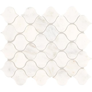 """Daltile MLANTMSL  Marble Collection - 2-1/2"""" x 2-1/2"""" Rain Drop Mosaic Wall & Floor Tile - Polished Marble Visual"""