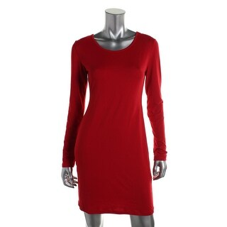 Say What? Womens Clubwear Dress Knit Solid